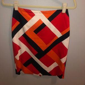 Geometric pattern Ann Taylor pencil skirt